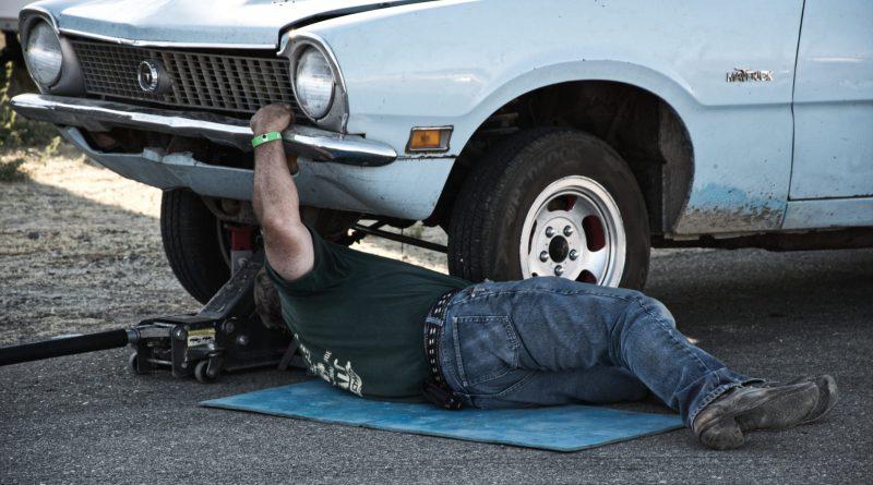 Used car inspection in progress