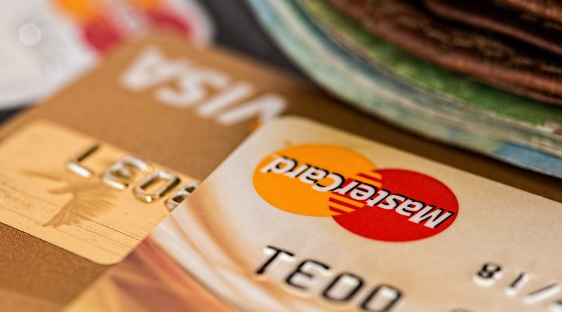 Close up of money and credit cards