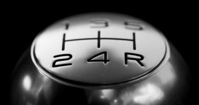 gear stick in a manual car