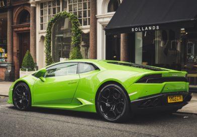 Lamborghini supercar after inspeciton