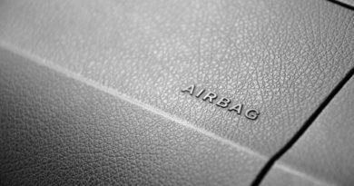 Close up of car airbags