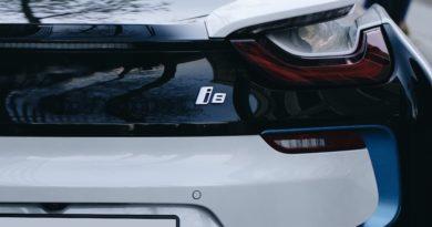 Electric car close up