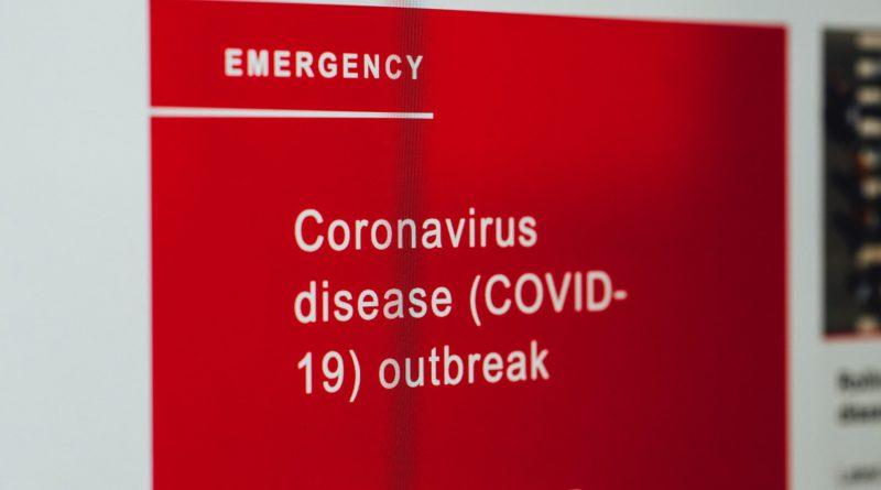 COVID19 news on screen