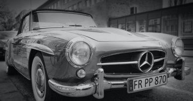 Old age mercedes benz car