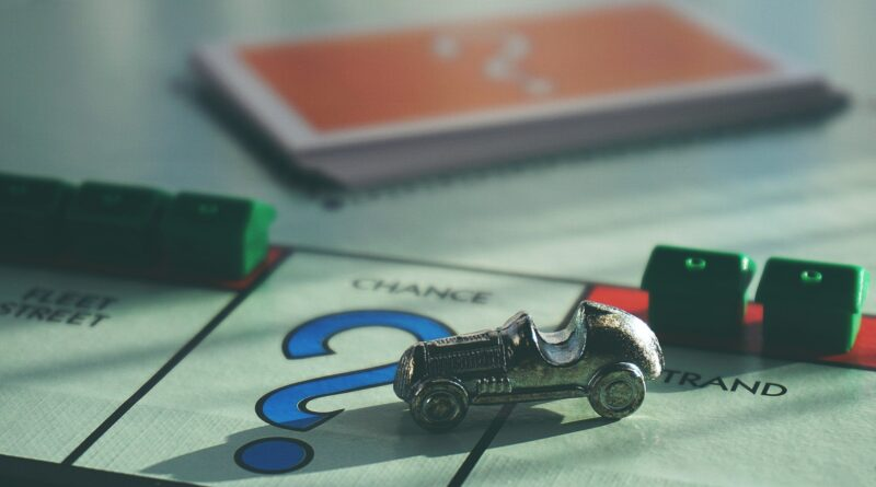 monopoly car on question mark