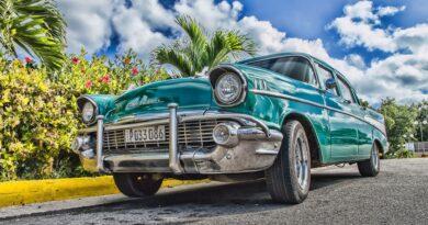 Roadworthy car on the road