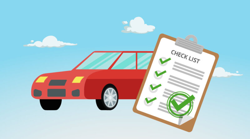 car and checklist